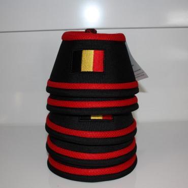 Manmat springschoen Belgische vlag Rood (set 4 st)