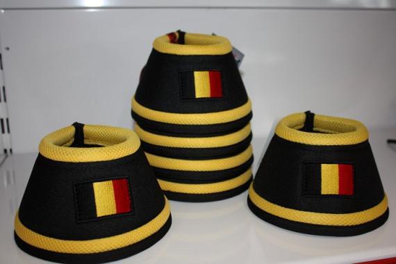 Manmat springschoen Belgische vlag Geel (set 4 st)