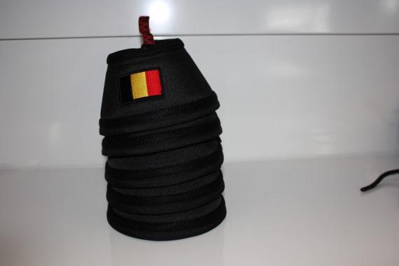 Manmat springschoen Belgische Vlag zwart (set 4 st)