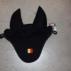 Manmat oornetje Zwart Belgische vlag
