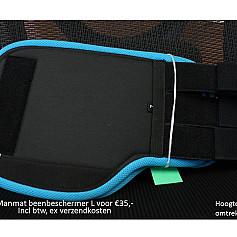 Beenbeschermers maat L voorzijde kleuren in beschrijving