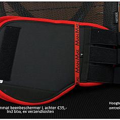 Beenbeschermers maat L achterzijde kleuren in beschrijving