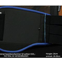 Beenbeschermers maat M achterzijde kleuren in beschrijving